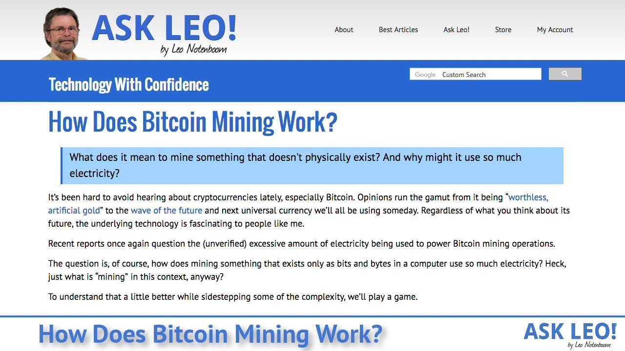 How Does Bitcoin Mining Work? - Ask Leo!