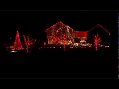 """Christmas Vacation"" Home Christmas Lights Show 2012"