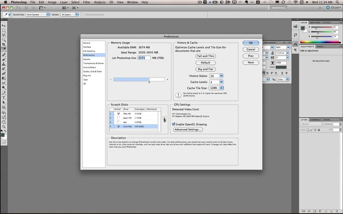 How to Setup a Photoshop Scratch Disk