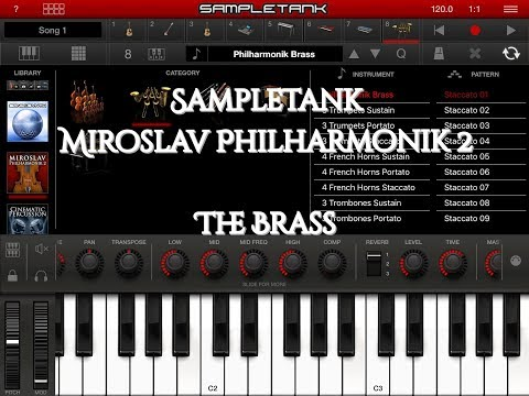 SAMPLETANK Miroslav Philharmonik 2 - The Brass - Demo for the iPad