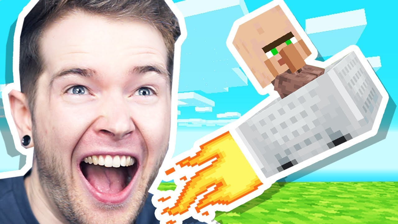 I LAUNCHED a BABY VILLAGER in Minecraft Hardcore! thumbnail