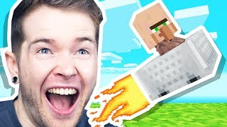 I LAUNCHED a BABY VILLAGER in Minecraft Hardcore!