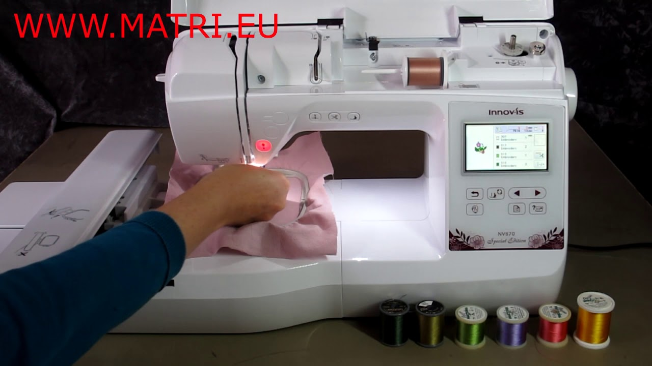 Download Brother, Brother Innov-is NV 870 SE Embroiderymachine, Embroideryfilm