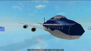 Roblox | Aqua Airways Boeing 747 - 8i | First Class.