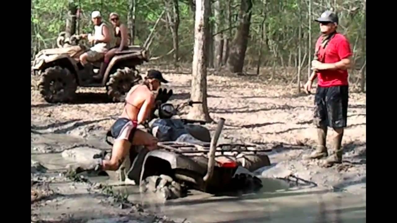 Girls with quads mud