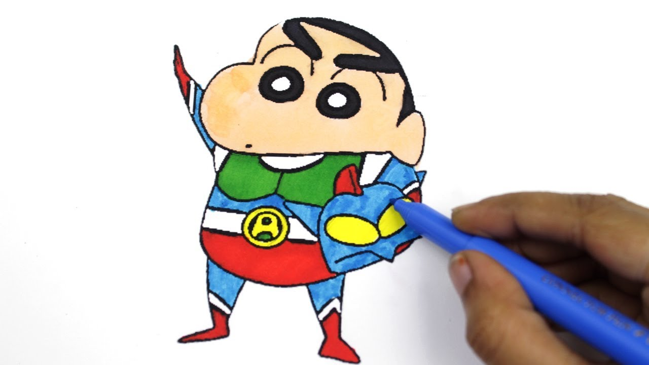 colouring shin chan and action kamen shin chan colouring