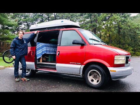 VANLIFE | DIY GMC Safari AWD 4x4 Campervan - Snowboarding Adventures