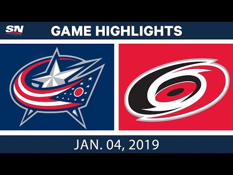 NHL Highlights | Blue Jackets vs. Hurricanes - Jan. 4, 2019