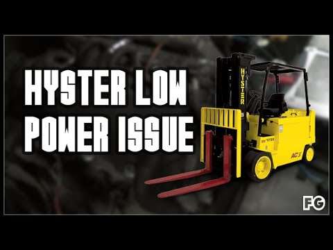 Hyster Low Power Diagnosis