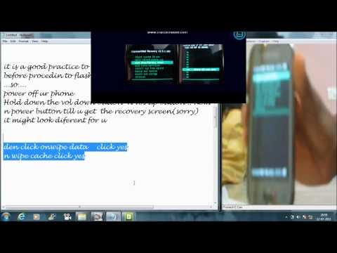 FLASHING ANDROID PHONE (samsung galaxy 3 i 5800 / i 5801)