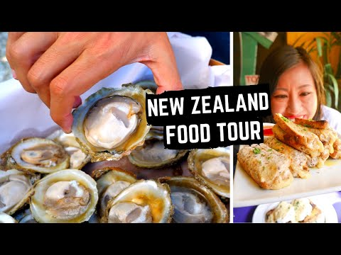 New Zealand Food tour | BEST NEW ZEALAND FOOD | GIANT BLUFF oysters | ICONIC Kiwi foods