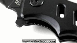 Mtech Extreme Tactical Folding Knife With Metal Fence Design