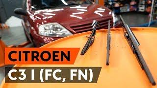 Kuinka vaihtaa pyyhkijänsulat CITROEN C3 1 (FC, FN) -merkkiseen autoon [AUTODOC]