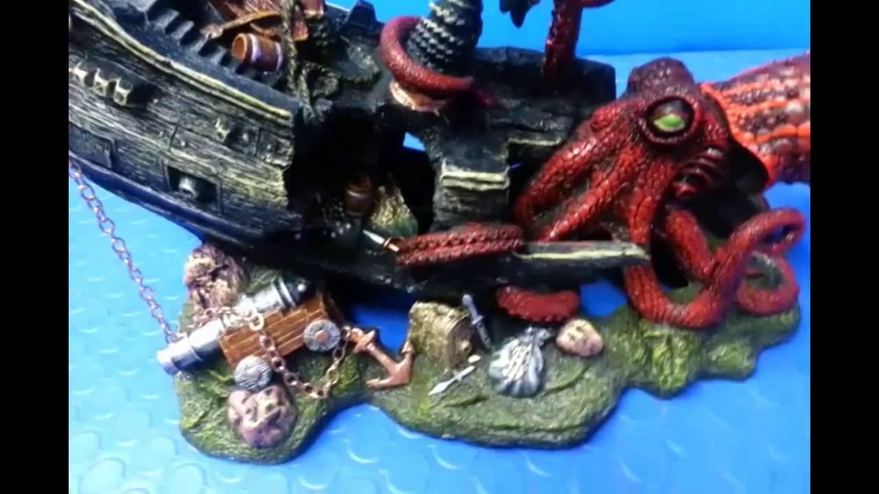 Demo adorno barco pirata youtube - Decoracion de peceras ...