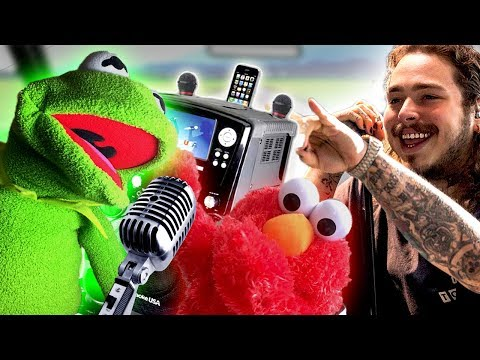Elmo and Kermit the Frog Car Karaoke! FT Post Malone!
