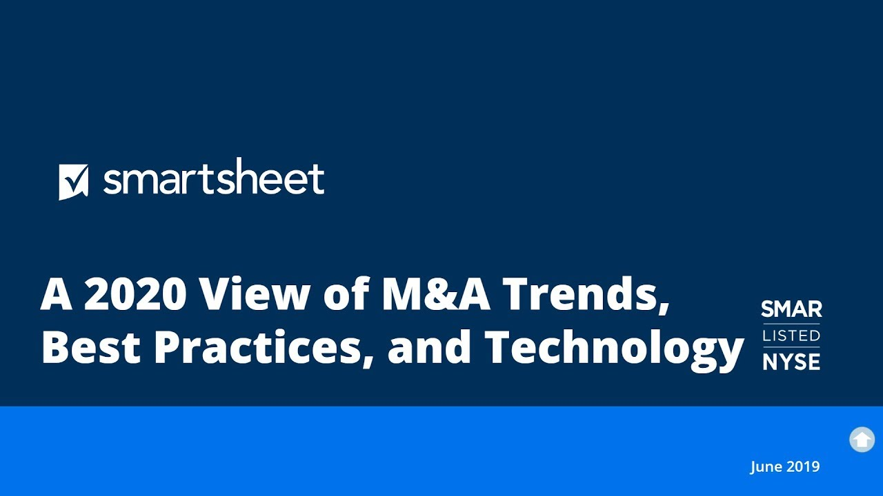 Bdo Best Class 2020 Webinar: A 2020 View of M&A Trends, Best Practices, and Technology