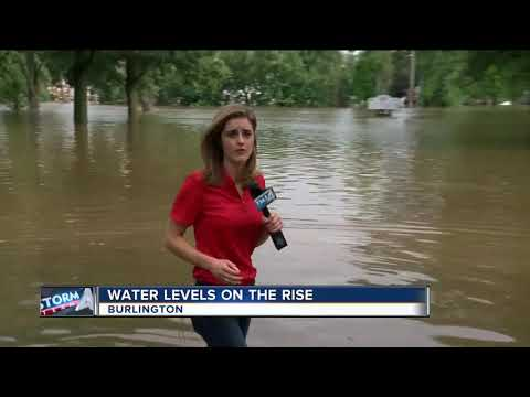 Burlington Residents Scared They May Lose Their Home Due To Floods