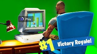 PLAYING THE SECRET PC MINIGAME GAME! - Fortnite: Battle Royale