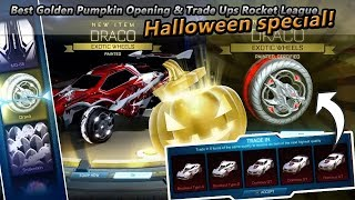 Best Golden Pumpkin Opening & Trade Ups Rocket League (Halloween Special)