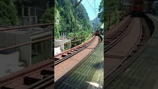 黒部峡谷鉄道欅平駅トロッコ電車