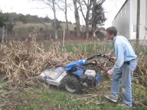 BCS 749 walk-behind tractor running Berta brand 26