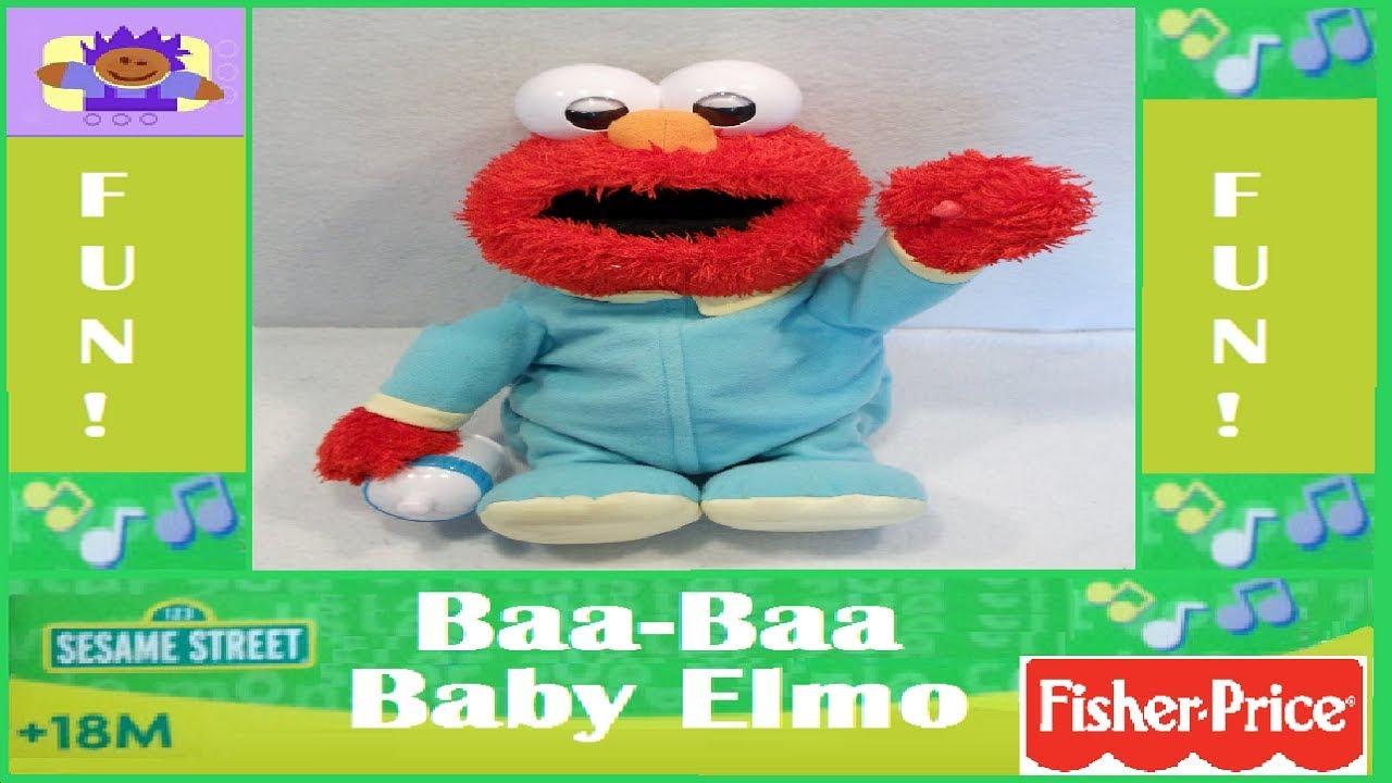 2007 Sesame Street BaBa Baby Elmo Plush By Fisher Price  YouTube