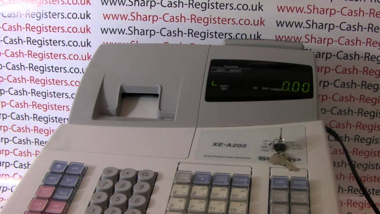 how to reset faulty sharp xe a202 cash register youtube rh youtube com Sharp Cash Register Cash Register On Change