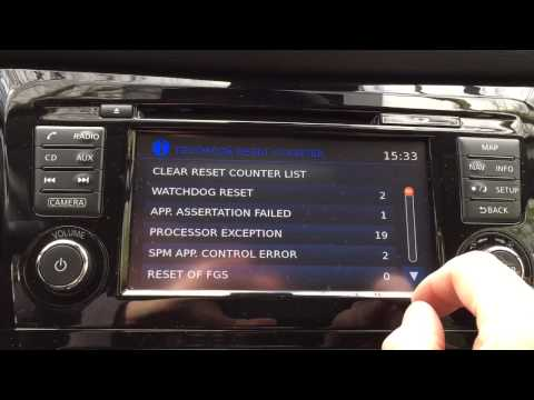 Qashqai J11 - How to enter TEST MODE on Nissan Connect III