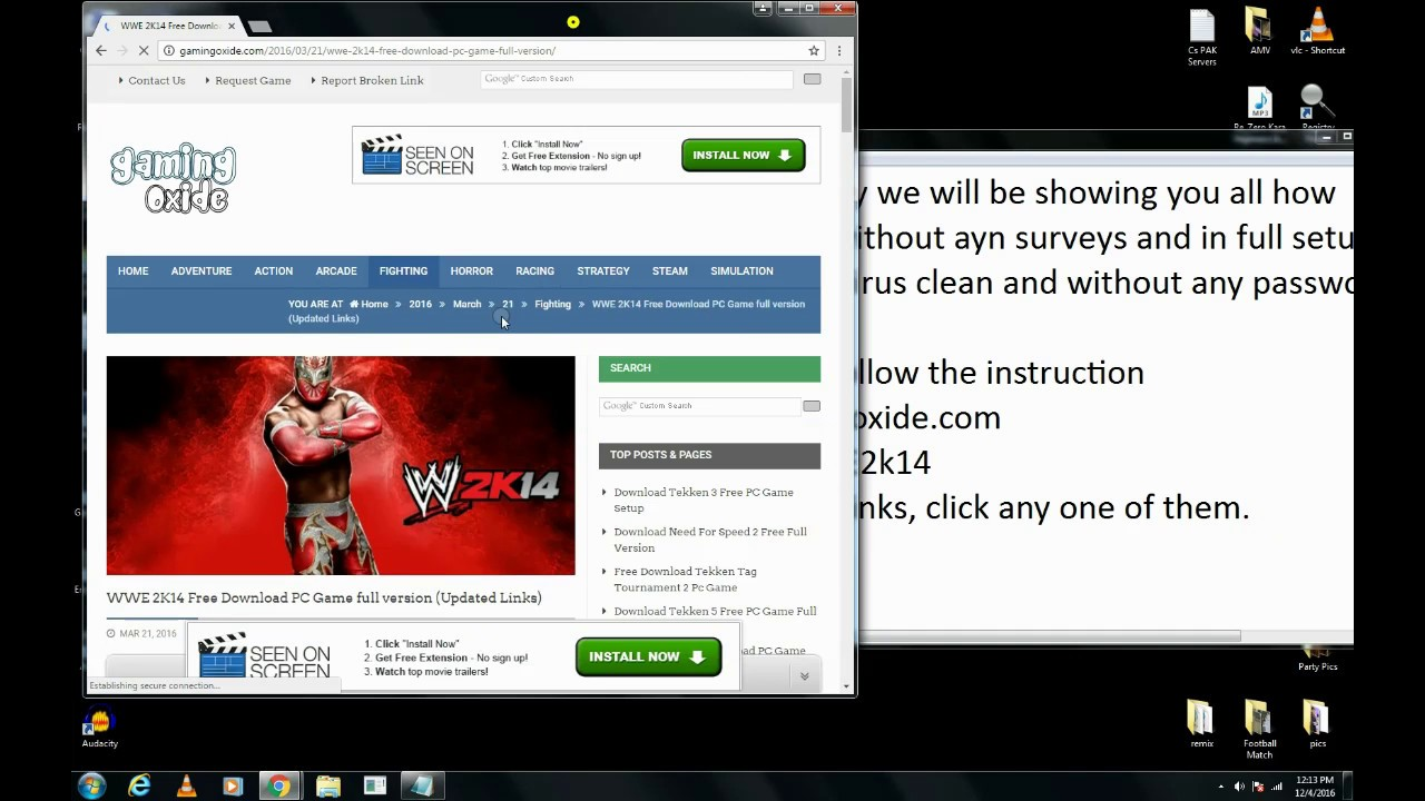 Wwe smackdown vs raw 2007 pc game free download 2014 « download.