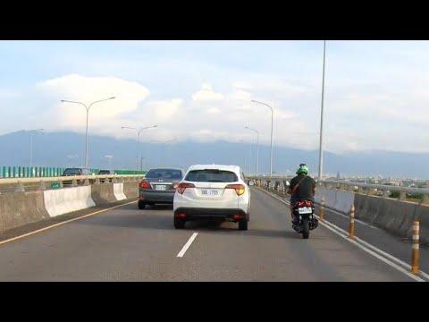 高架橋上危險超車 191縣道 蘭陽溪高架段 #超車#SJ8#M777#迫近超車#191#高架橋#危險#