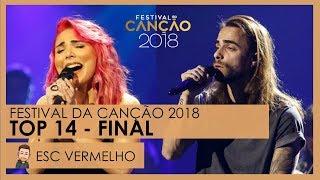 Festival da Canção 2018 | FINAL TOP 14