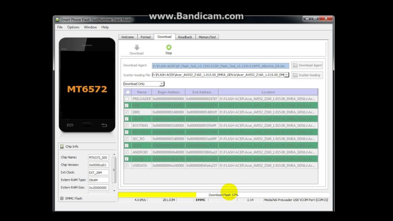 Cara Flash Acer Z4 Z160 Menggunakan Flashtool Firmware