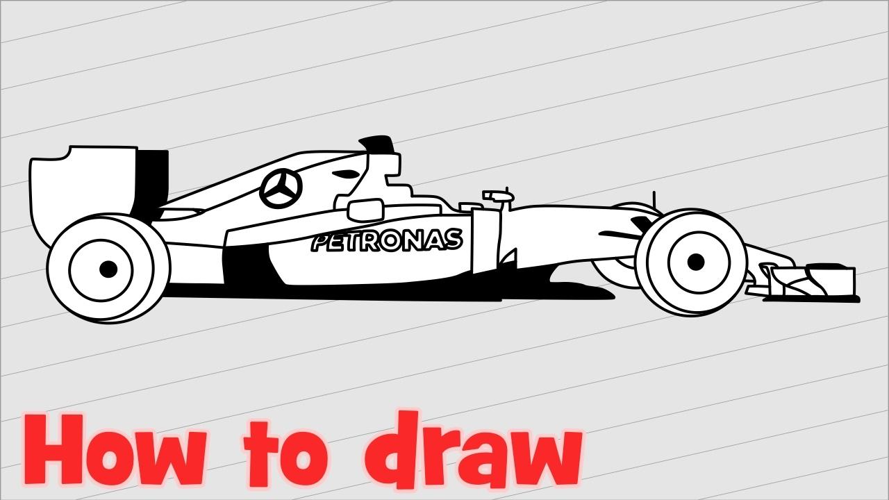 Drawing F1 Car Mercedes Amg Petronas Lewis Hamilton S Formula 1 Car Youtube