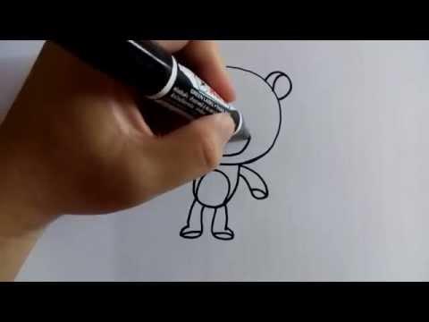 สอนวาดรูปการ์ตูนหมี น่ารัก by วาดการ์ตูนกันเถอะ
