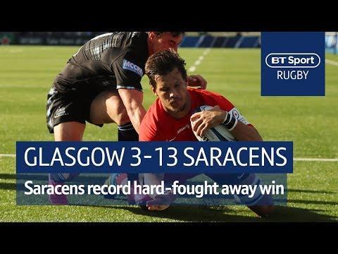 Glasgow Warriors vs Saracens (3-13) Heineken Champions Cup Highlights