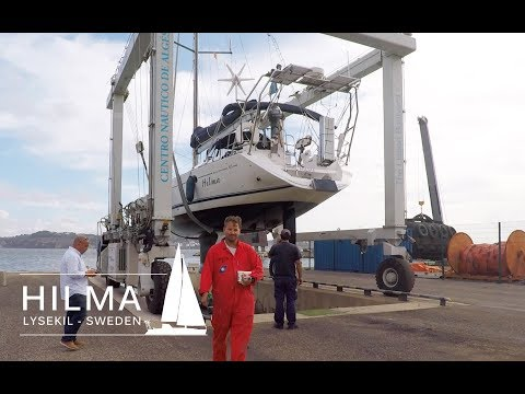 Hilma Sailing, fishing net stuck in the propeller in Portugal, Ep 8