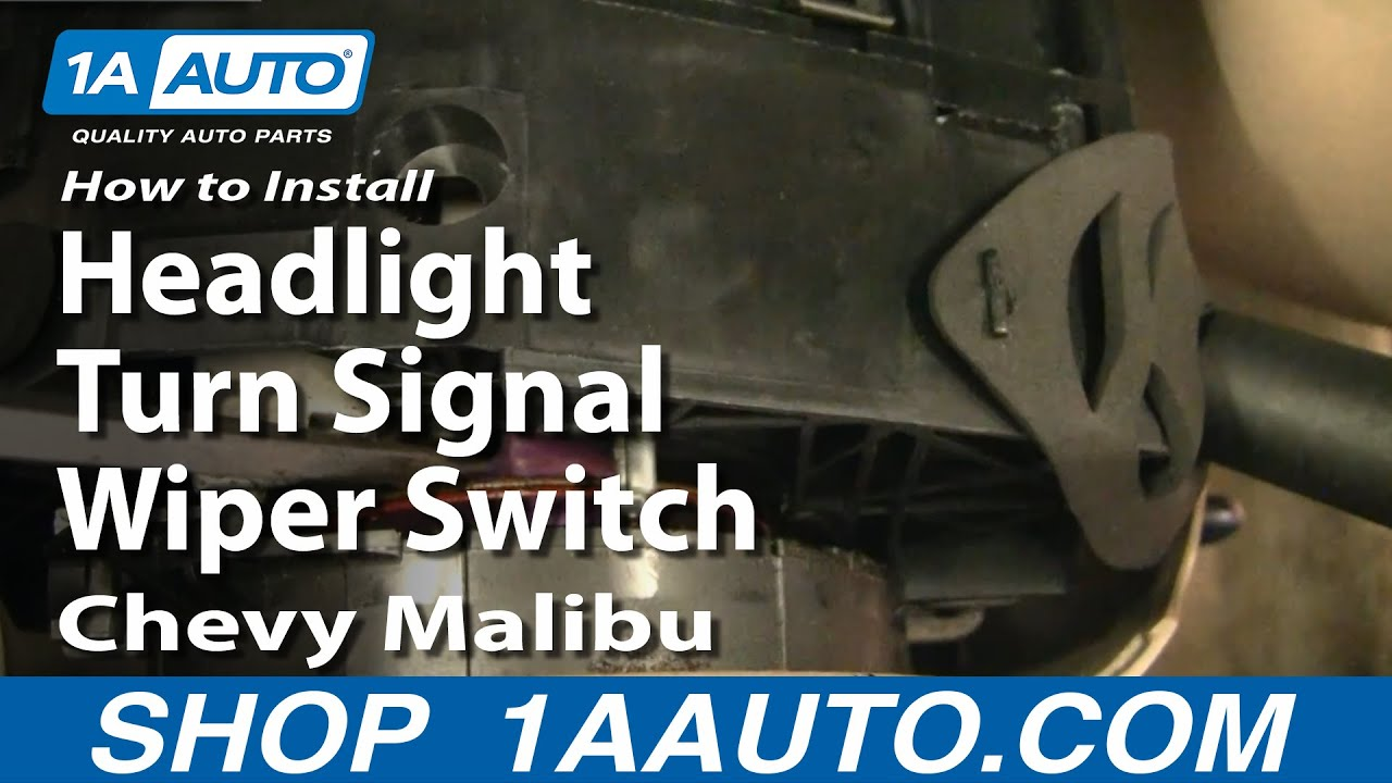 replace combination switch   chevy malibu youtube