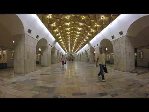 The Stations on the Yellow Line of Moscow Metro - Станции на Калининской линии в Московском Метро