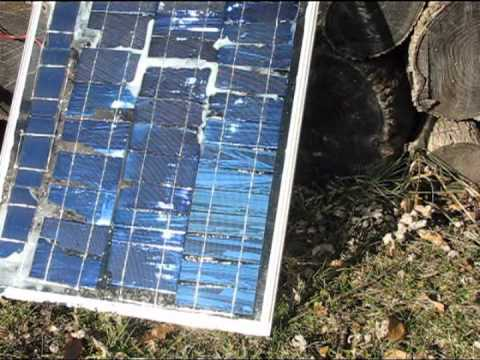Part 2 3x6 1/2 Broken Homemade diy solar panel Sun power for free ...