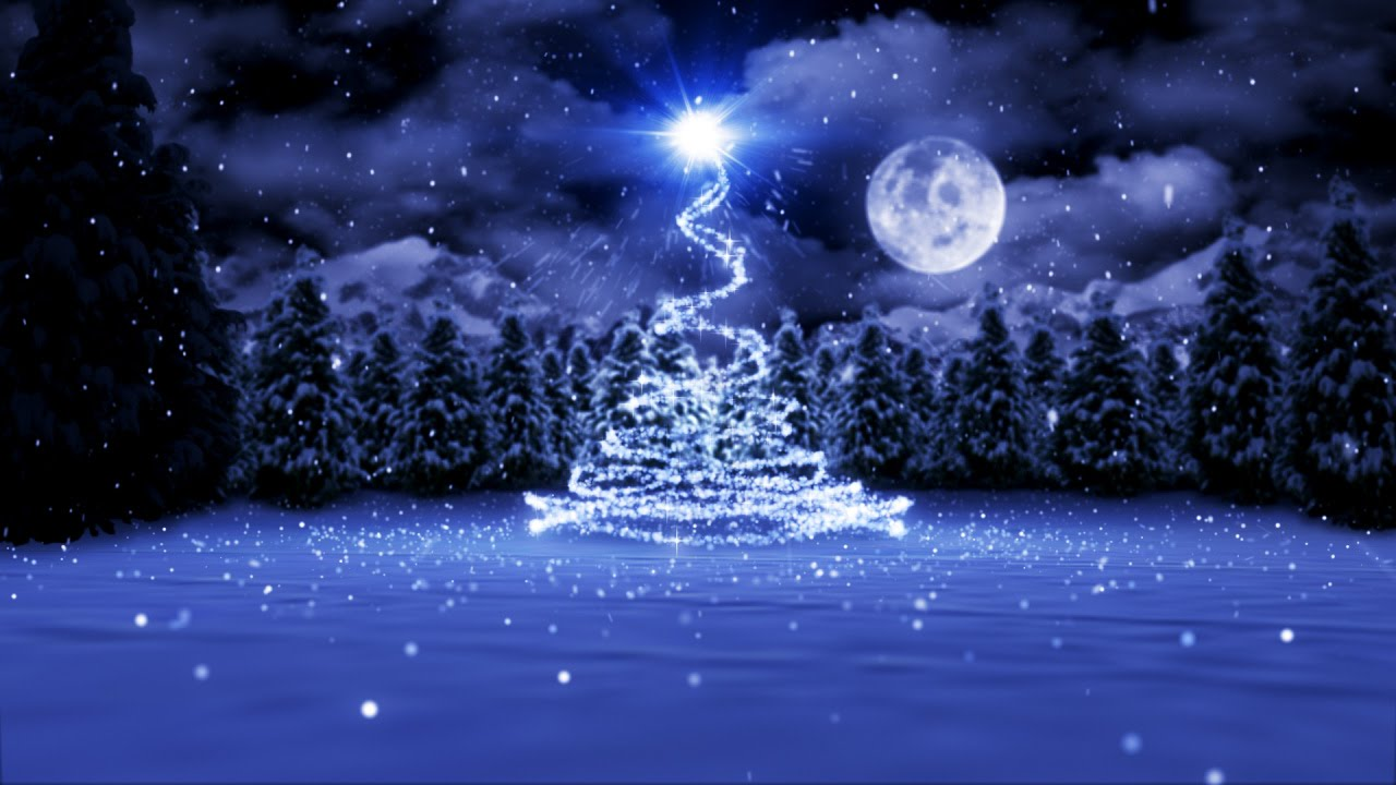Animated Christmas Card Template Christmas By Moonlight Youtube
