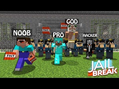 Minecraft Battle: NOOB vs PRO vs HACKER vs GOD :JAILBREAK Challenge in Minecraft thumbnail