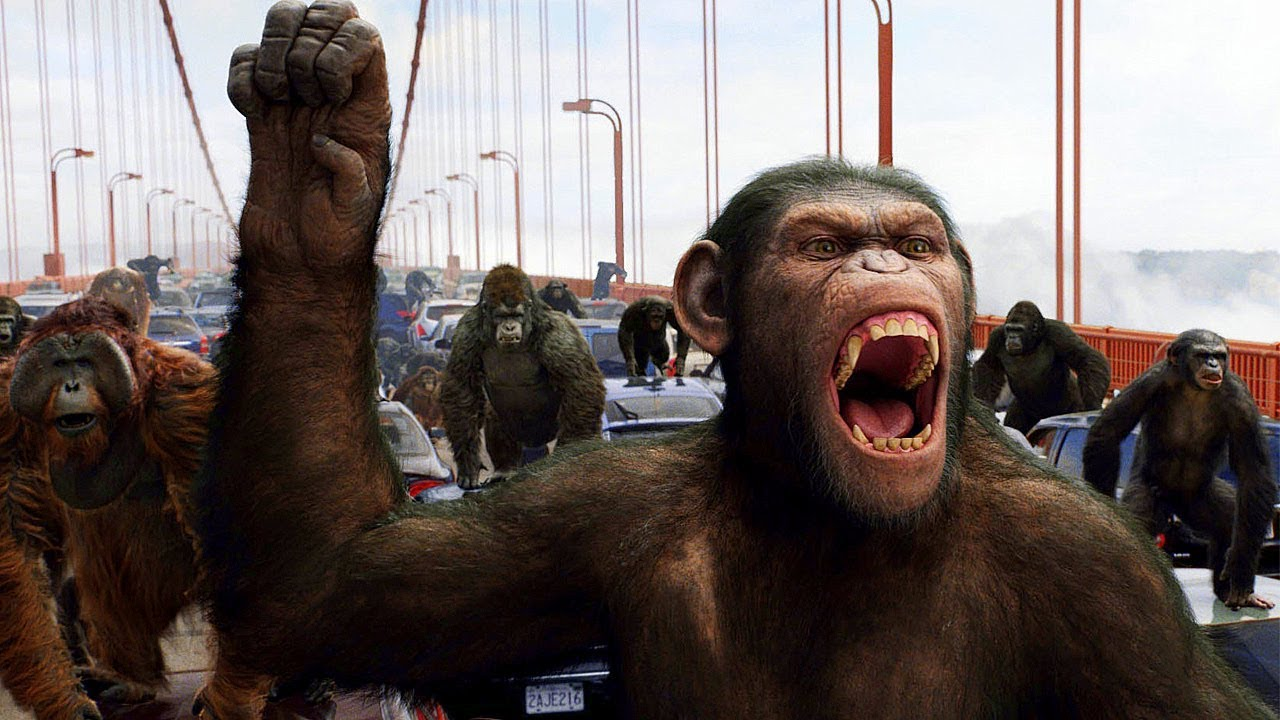 Apes vs Humans - Bridge Battle - Rise of the Planet of the Apes (2011) Movie Clip HD
