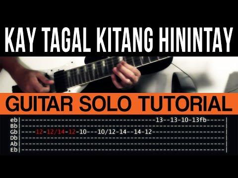 Kay Tagal Kitang Hinintay - Sponge Cola Guitar Solo Tutorial (WITH TAB)