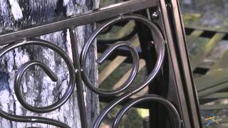 Scrollback Metal Tree Surround Bench - Product Review Video
