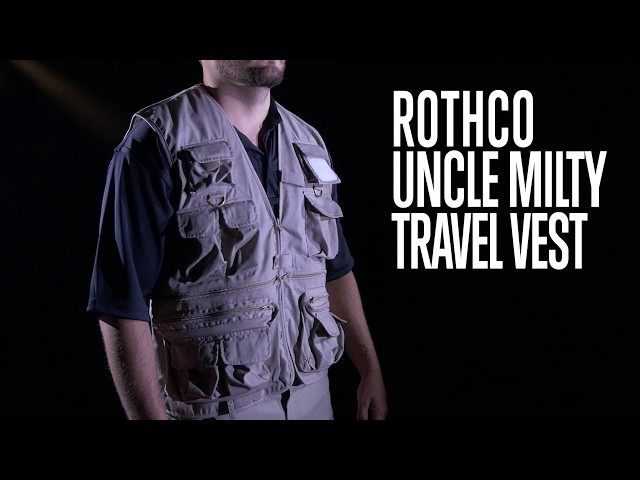 Uncle Mility Travel Utility Vest - Rothco Product Breakdown