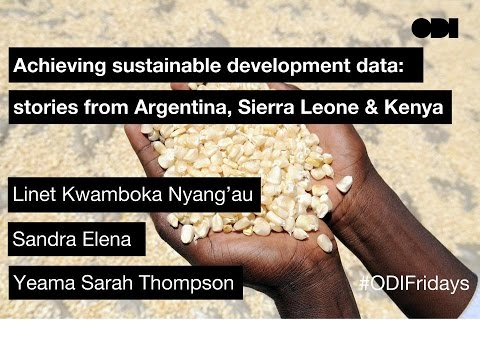 Friday lunchtime lecture: Achieving sustainable development data