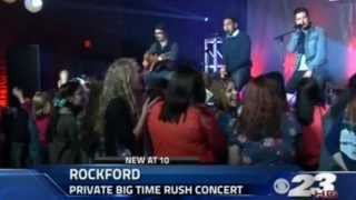 Private Concert with Big Time Rush (News on WIFR)