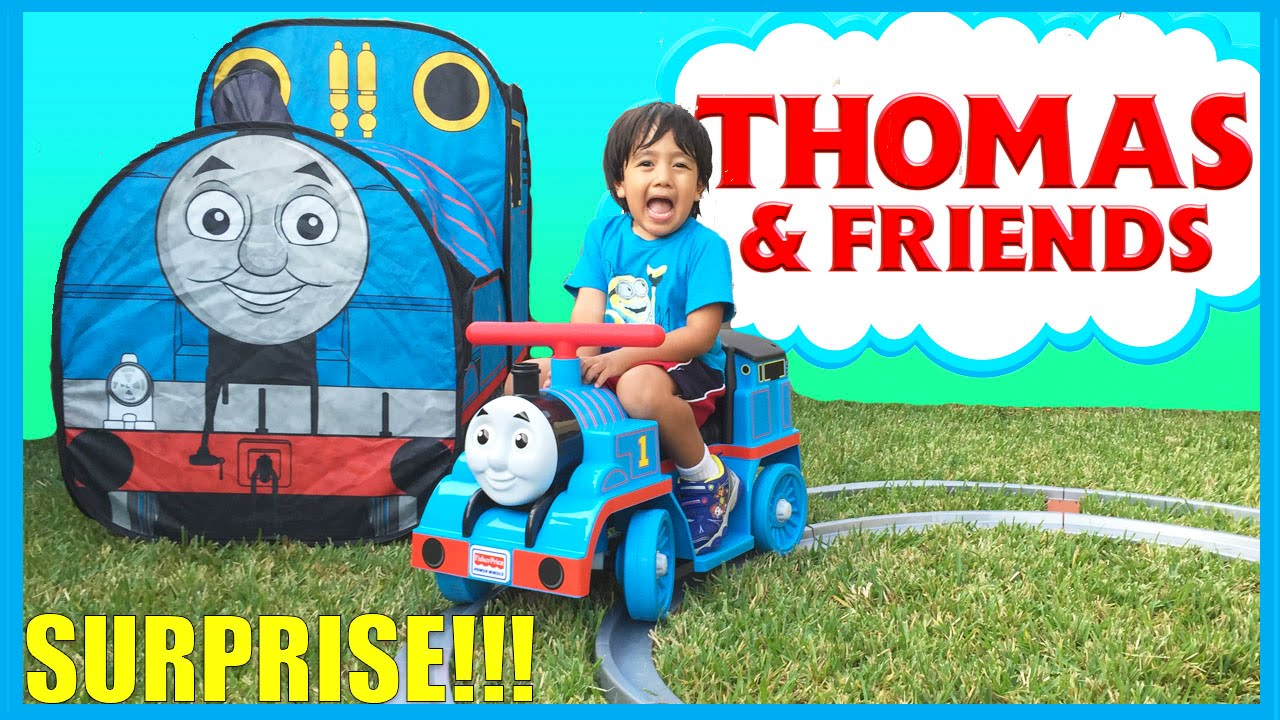 GIANT THOMAS AND FRIENDS SURPRISE TENT and Train Power Wheels - YouTube  sc 1 st  YouTube & GIANT THOMAS AND FRIENDS SURPRISE TENT and Train Power Wheels ...