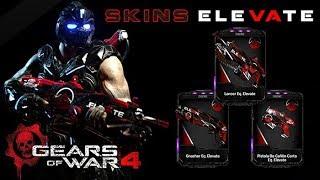 "Gears of War 4 l 1ra. Partida debut skins "" ELEVATE "" l Canjéalo Snub Pisto Latido l 1080p"