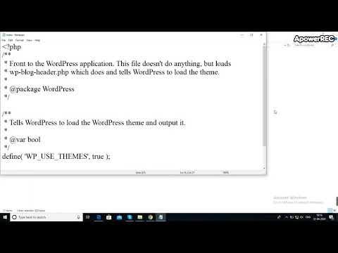 Tells wordpress to load the wordpress theme and output it